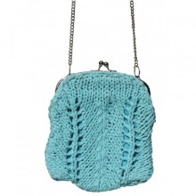 Madhu | small turquoise purse with shoulder strap