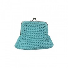 Lata | purse in turquoise cotton thread