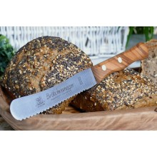 Butter Spreader & Bread Roll Knife with a handle made of Olive Wood