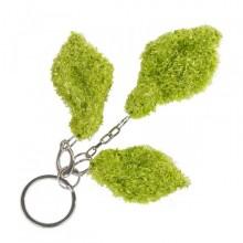 Leaf   green key-holder in recycled wool