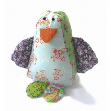 Stuffed toy - Fred the penguin made of cotton