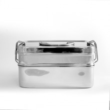 Lunchbox XL Double made of Stainless Steel
