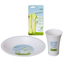 Eco friendly dishes for kids made of bioplastics