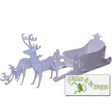 Reindeer with sleigh – Animals made of cardboard