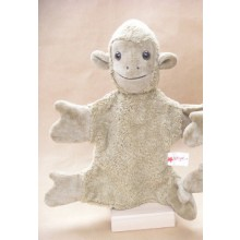 Glove Puppet Monkey beige – vegan – by Kallisto