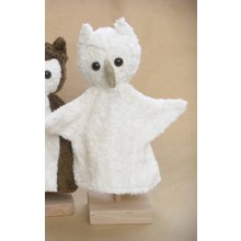 Glove Puppet white Owl – vegan