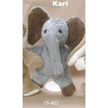 Soft Toy Elephant Carl Organic Cotton by Kallisto