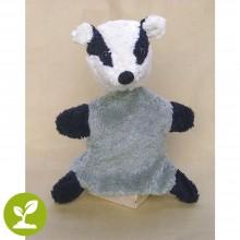 Vegan & Organic Hand Puppet Badger