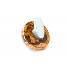 Towel Hook »Oval« made of Olive Wood and Stainless Steel