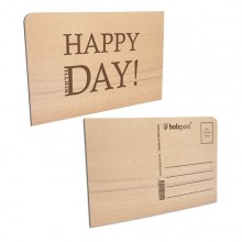 Wooden Postcard – HAPPY DAY