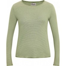 Green-Natural striped Longsleeve with contrasting hem