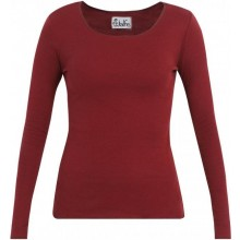 Red-Grey ringed Longsleeve with contrasting hem by JALFE