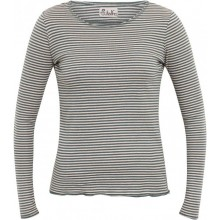 Natural-teal striped Organic Cotton Longsleeve