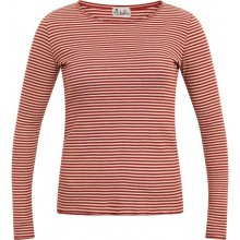 Natural-rust striped Longsleeve, Organic Cotton