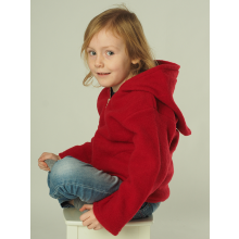 Plain Fleece Hooded Jacket from Eco Merino-Wool