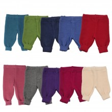 Knitted Baby Plain Leggings made of eco wool, Reiff