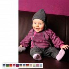 Baby Pullover with Button Tape - Organic Wool by Reiff