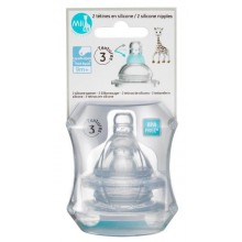 Mii Sophie La Girafe – Silicone Nipple 9+ month Thick Liquid 2 Pack