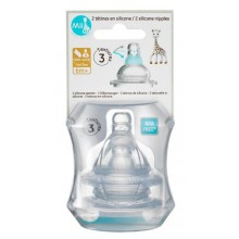Mii Sophie La Girafe – Silicone Nipple 6+ month Fast Flow 2 Pack