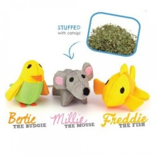 Millie the Mouse,  Bertie the Budgie and Freddie the Fish - Beco Family for Cats