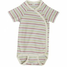 Multicolour Kimono Baby Bodysuit of Organic Cotton