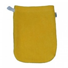 Popolini Babys Wash Mitt organic cotton yellow