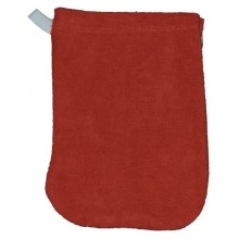 Popolini Babys Wash Mitt organic cotton red