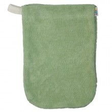 Popolini Babys Wash Mitt organic cotton green