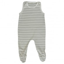 Natural Romper made of Interlock GOTS organic cotton