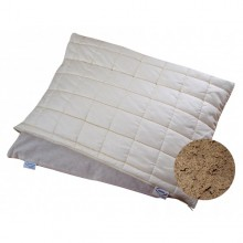 Pillow filled with Organic Spelt Husks and Natural Rubber + removable Pillow Slip