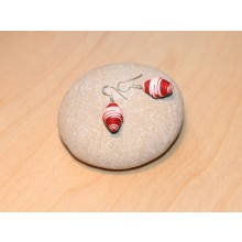 Earrings Strawberry made of Eco Paper