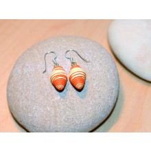 Earrings SPLASH OF COLOUR made of Eco Paper