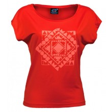 Women T-Shirt CHACHACOMANI 100% recycled – Red