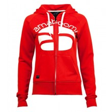 Women Zipped Hoodie INDIGIRKA 100% Recycled – Red