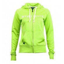 Women Zipped Hoodie MALASPINA 100% Recycled Green