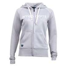Women Zipped Hoodie MALASPINA 100% Recycled – Grey