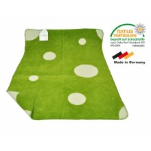 ASMi Baby Blanket Organic Cotton green/ecru