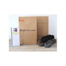 DIY knitting set Loop Scarf Brown – Alpaca Wool