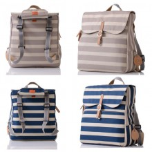 PacaPod Hastings Sand Stripe or Blue Stripe – Changing Bag | Knapsack