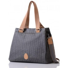 PacaPod Richmond Charcoal Herringbone– Tote Baby Changing Bag | Handbag