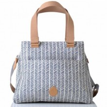 PacaPod Richmond Navy Herringbone– Tote Baby Changing Bag | Handbag
