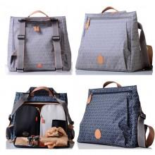 PacaPod Lewis Changing Bag – Backpack – Messenger Bag – Dove or Navy