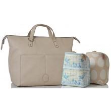PacaPod Saunton Chalk Vegan Leather Changing Bag & Backpack