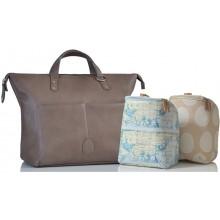 PacaPod Saunton Latte Vegan Leather Changing Bag & Backpack
