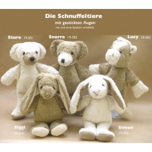 Soft Toy Bear Snorre of Organic Cotton by Kallisto