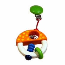 Wooden Clip On Baby Toy Mushroom