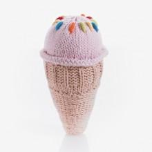 Pebble Ice Cream Rattle – Strawberry