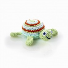 Turtle Rattle green made of Cotton by Pebble