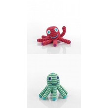 Octopus Rattle of Cotton in various colours by Pebble