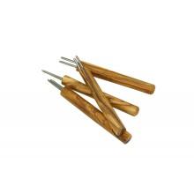 Corn Holders of Olive Wood - Corn & Potato Skewer DESIGN